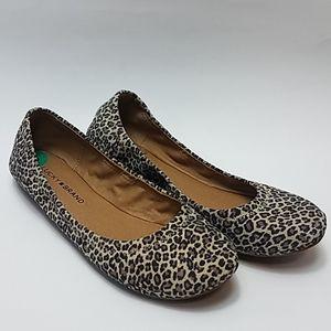 Nwt Lucky brand erin cheetah print flats 8m